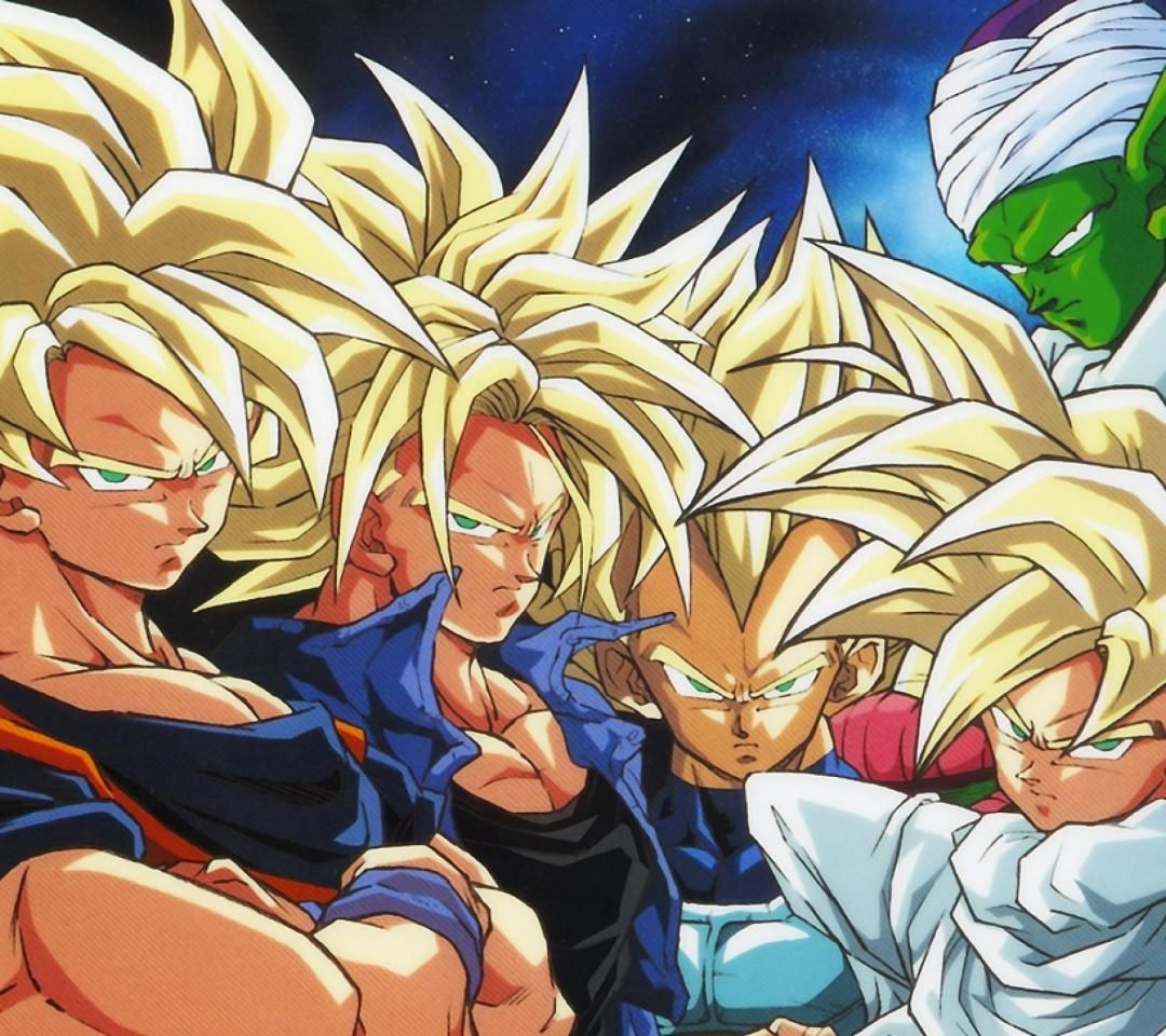 SSJ Goku, Future Trunks, Vegeta, Gohan and Piccolo ...
