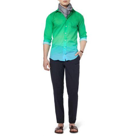Richard JamesSlim-Fit Degradé Cotton Shirt