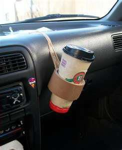 Redneck Cup Holder... Wow that is a good idea! lol