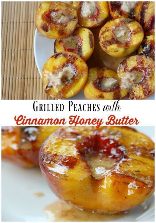 Peaches with Cinnamon Honey Butter
