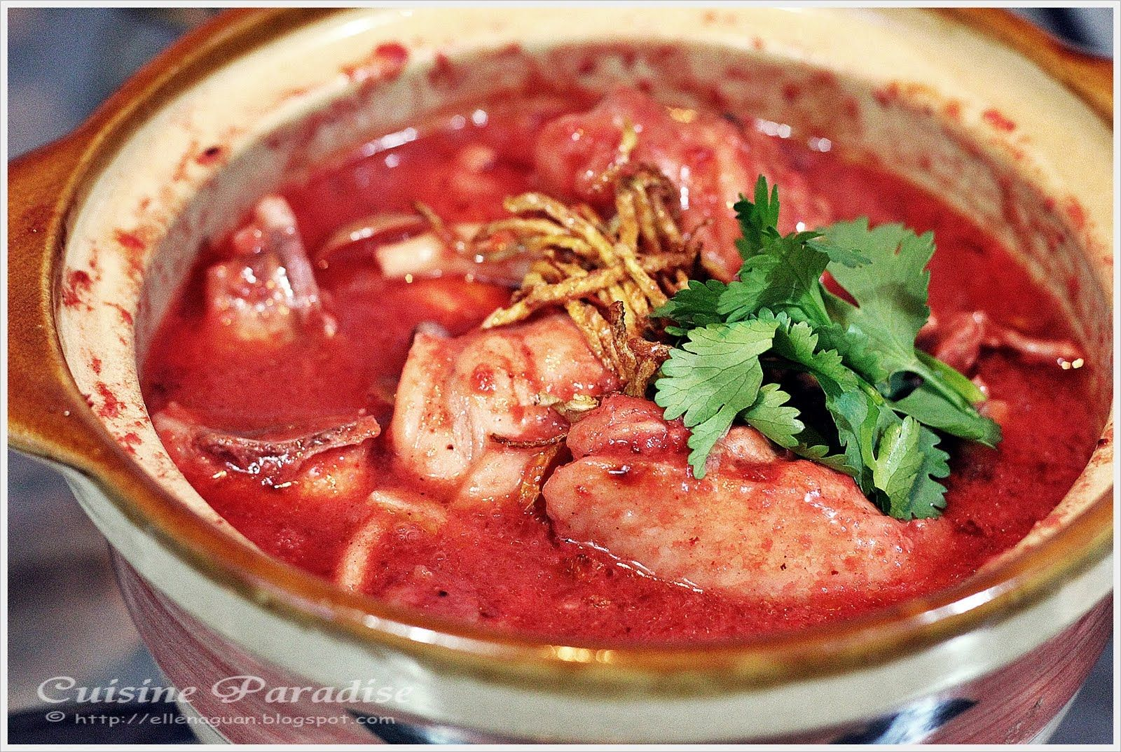 Cuisine Paradise Singapore Food Blog Recipes Reviews And Travel Chicken With Red Glutinous Rice Wine Lees Hong Za Red Wine Chicken Food Confinement Food