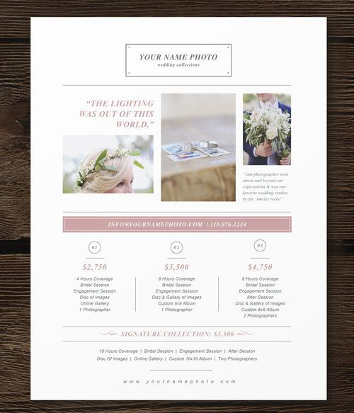 photographer pricing templates - price list template - bittersweet - price list templates