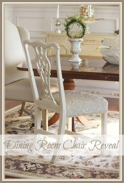 StoneGable: Repainting and Reupholstering an old Mahogany chair!