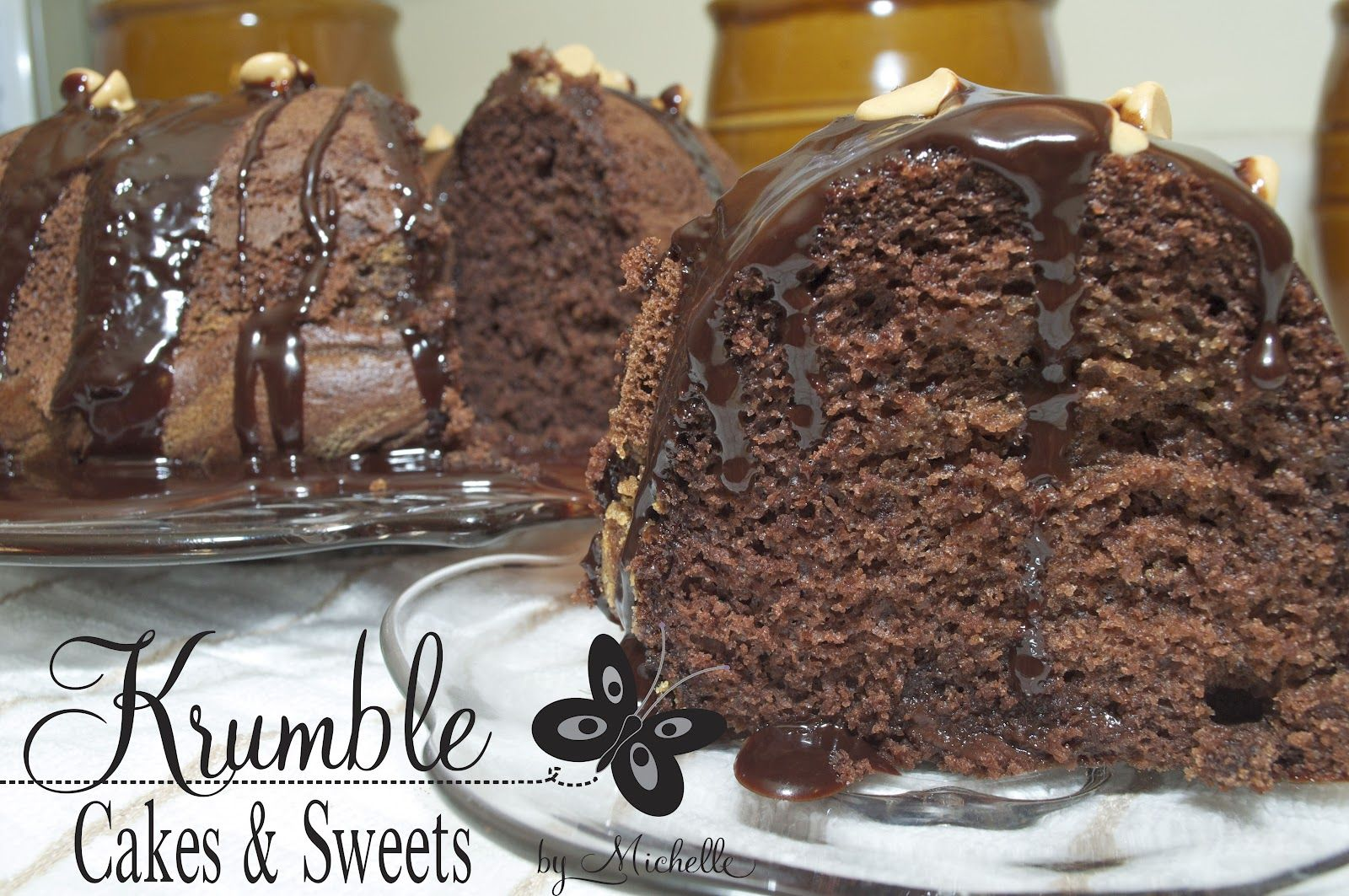 Krumble: Cakes & Sweets by Michelle: Peanut Butter Swirl Chocolate Bundt Cake