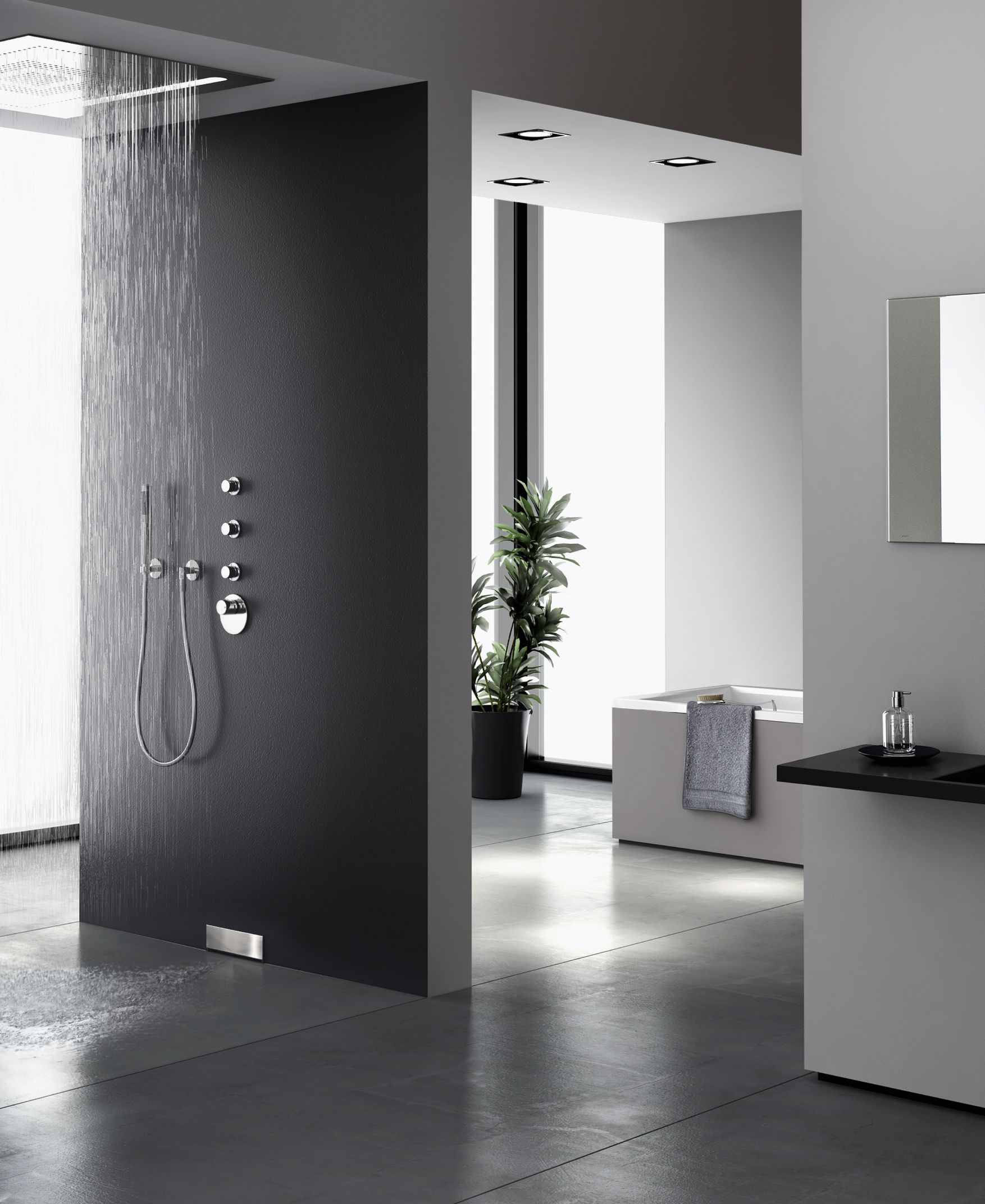 Hightech Im Badezimmer Mit Geberit Wandablauf Fur Duschen Badezimmer Kleines Haus Innenraume Modernes Badezimmer