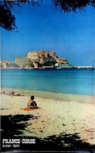 Poster Calvi France La Mer Corse Photo Ph Bottin 1975 In