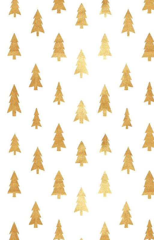 Cute Small Gold Christmas Trees Gold Trees Cute Trendy X Mas Jule Modern Trendy Case Skin For Samsung Galaxy Sfondo Natalizio Peonie Tema