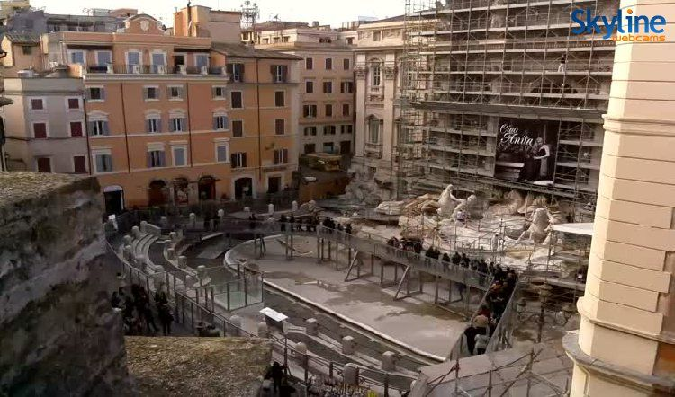Live Cam Trevi Fountain Trevi Fountain Rome Italy