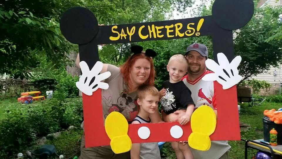 Mickey Mouse Clubhouse Picture Frames Made With Styrofoam Board And