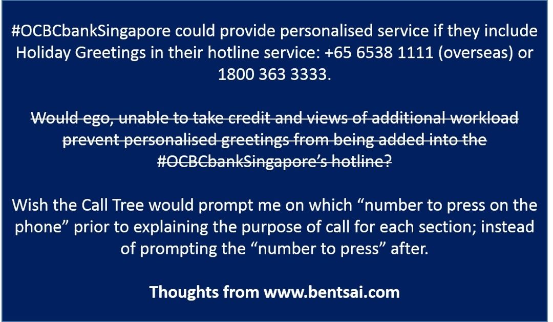 Holiday greeting on bank hotline see bentsai bank holiday greeting on bank hotline see bentsai bank singapore m4hsunfo
