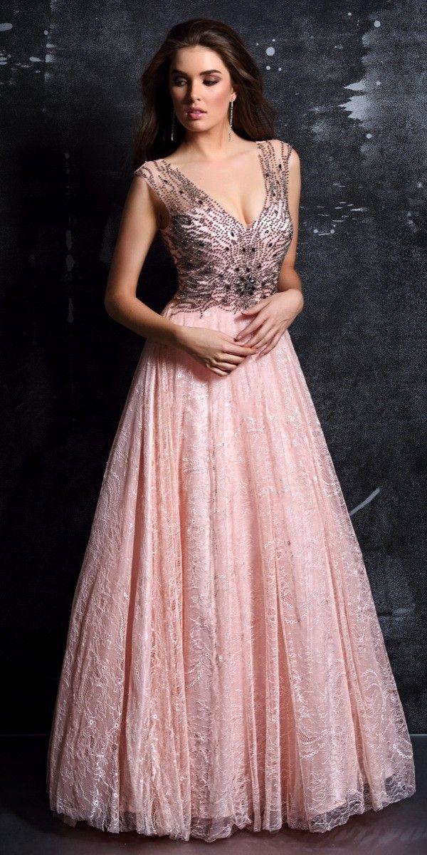 Cute V Neck Pink Ball Gown Nina Canacci - Nina Canacci - 7258 ...