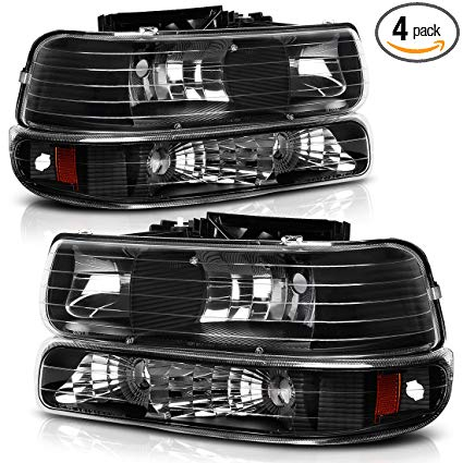 Amazon Com Headlight Assembly For 99 02 Chevy Silverado 1500 2500 01 02 Chevy Silverado Chevy Silverado 1500 Silverado Headlights Chevy Silverado Accessories