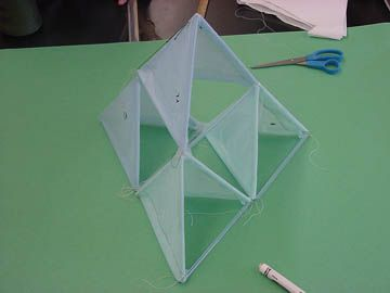 Making a tetrahedral kite these directions will allow you for Tetrahedron kite template