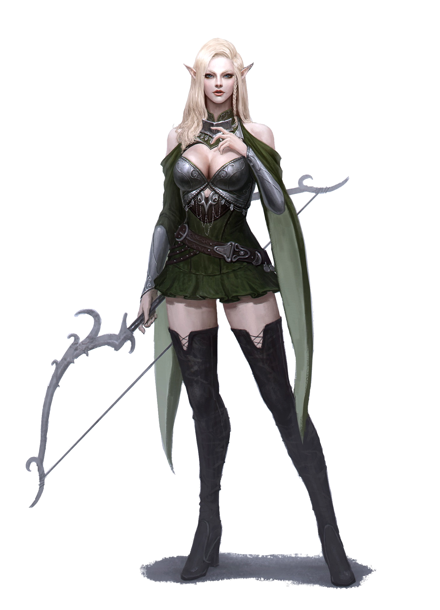 Female Elf Archer Pathfinder Pfrpg Dnd D D D20 Fantasy Elfa Mulheres Fantasia Imagens Femininas