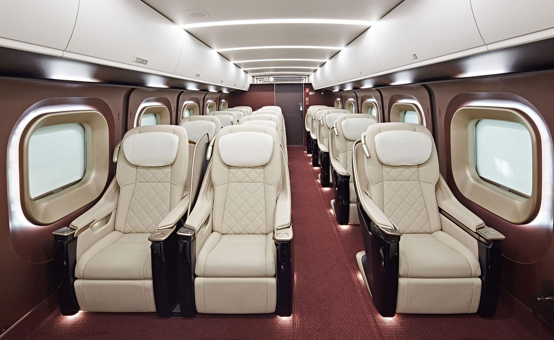 Japanese High Speed Bullet Train Interior