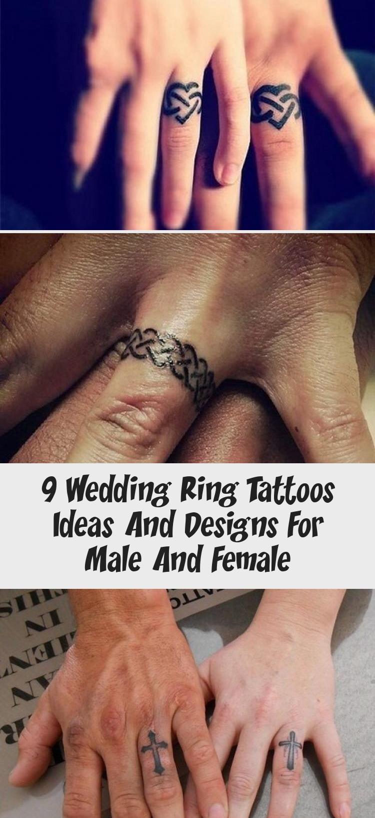 Photo of 9 idées et conceptions de tatouages d'anneau de mariage pour hommes et femmes – Tatouage