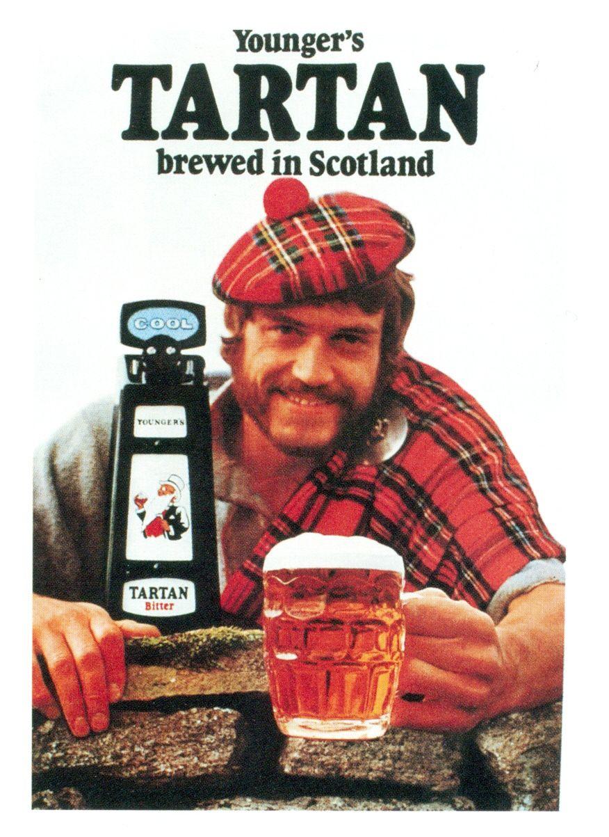 Tartan Bitter Youngers Brewery 1970s Scottish Scotland Tartan