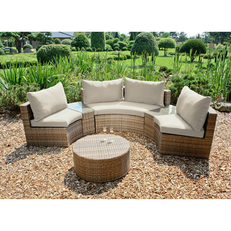 Loungegruppe Talavera 6 Teilig Polyrattan Webstoff Sand Garden Pleasure Jetzt Bestellen Unter Https Moe Lounge Mobel Gartenmobel Loungemobel Garten