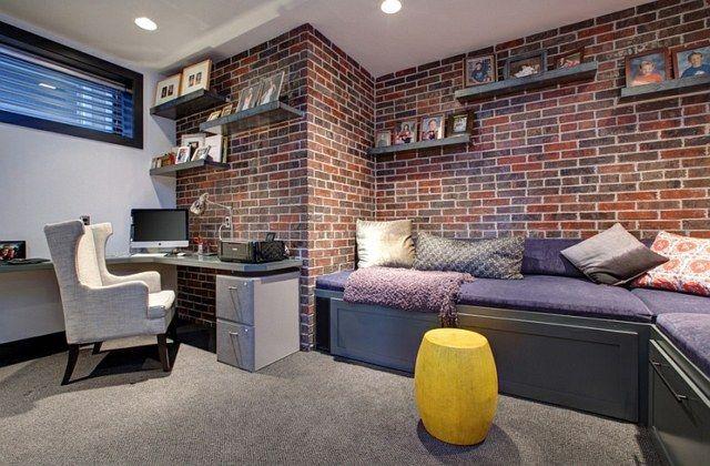 Transformez votre sous sol en un bureau à domicile chic design d