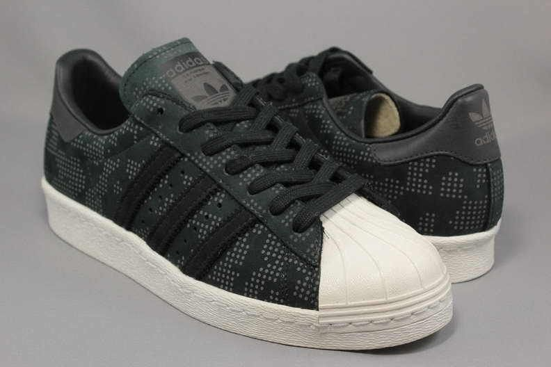 Mens Adidas Originals Superstar 80s Paris Sneakers New Yeezy Black Camo  B33840