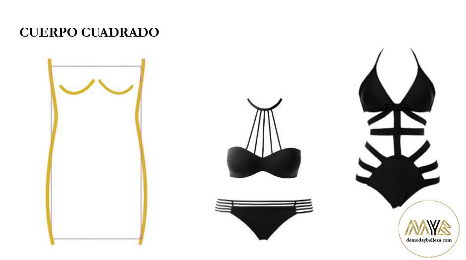 trajes-baño-segun-cuerpo-cuadrado   cuerpo rectangular   Pinterest