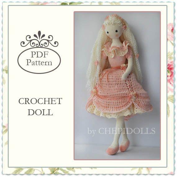 PATTERN, Crochet doll pattern, 13 Inch tall doll pattern | Muñecas y ...