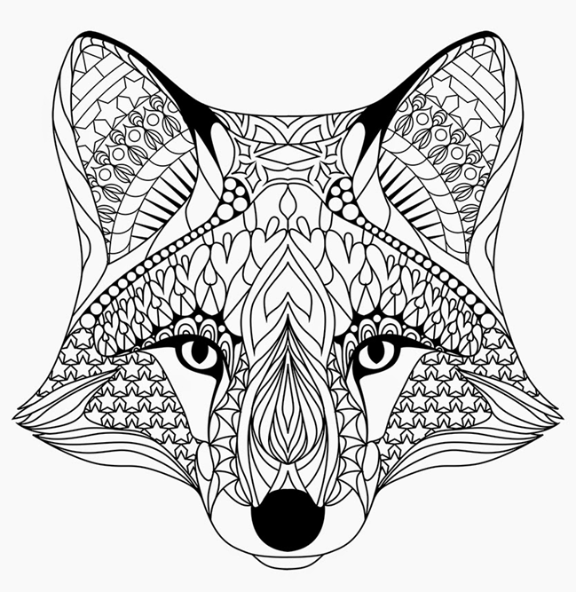 Coloring Rocks Fox Coloring Page Animal Coloring Pages Dog Coloring Page