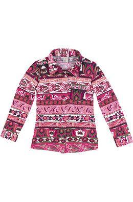 Camisa Infantil Feminina Em Algodão Com Estampa  65ecd7590b208