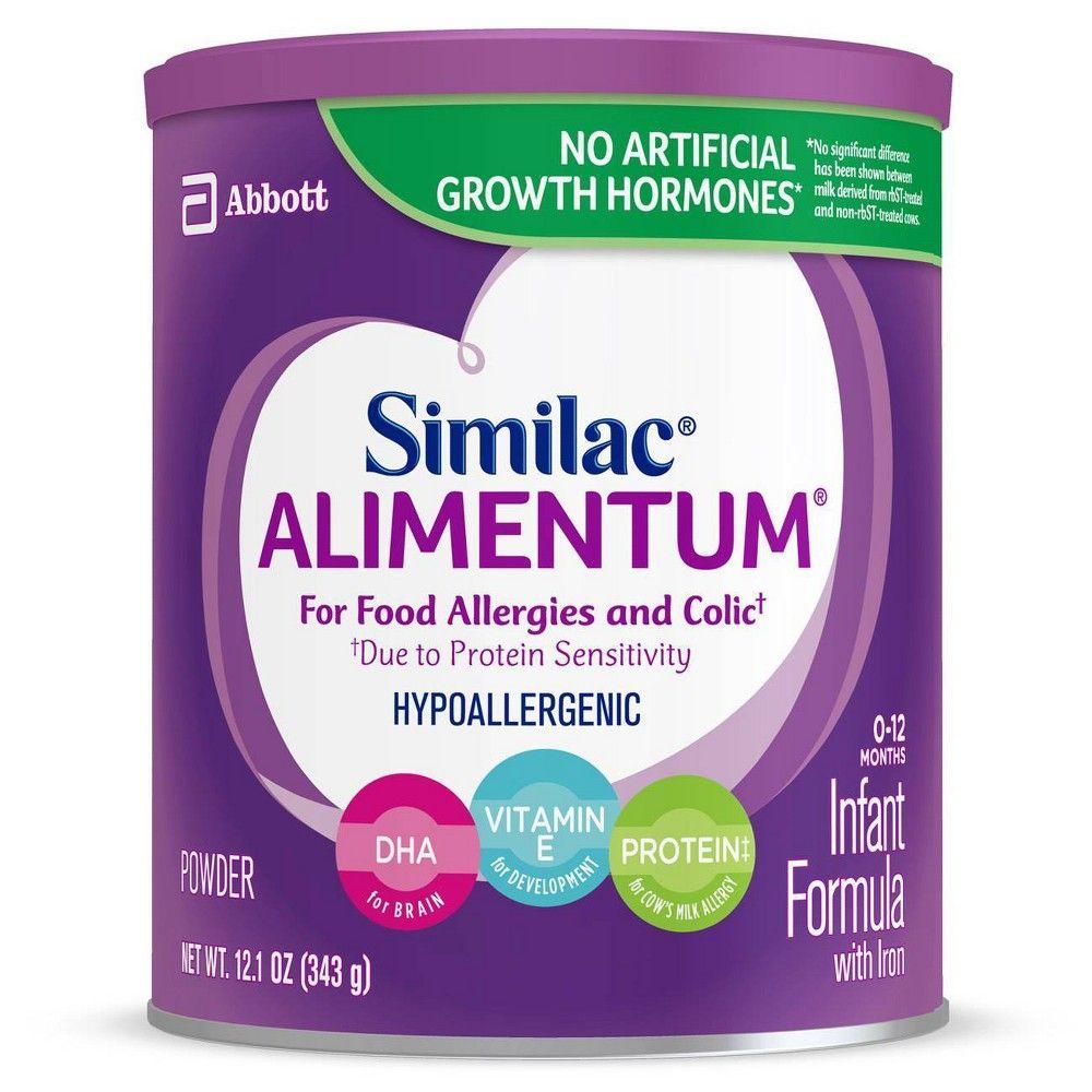Similac Alimentum Infant Formula Powder With Iron 12 1oz Baby Formula Lactose Free Formula Food Allergies