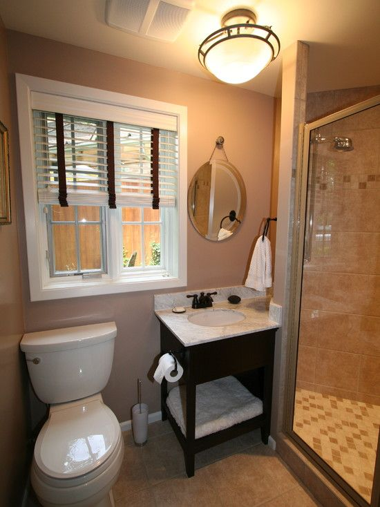 Small bathroom unique design love these shades bath - Small full bathroom remodel ideas ...