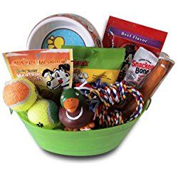 Dog Gift Basket Treats Crewing Toy Set Dog Gift Baskets Dog