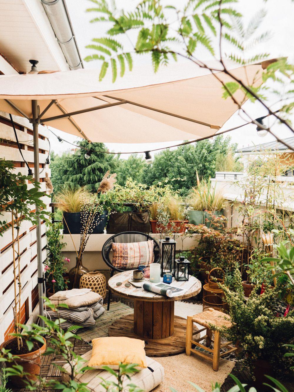 notre terrasse boh me jardin d coration du balcon d. Black Bedroom Furniture Sets. Home Design Ideas
