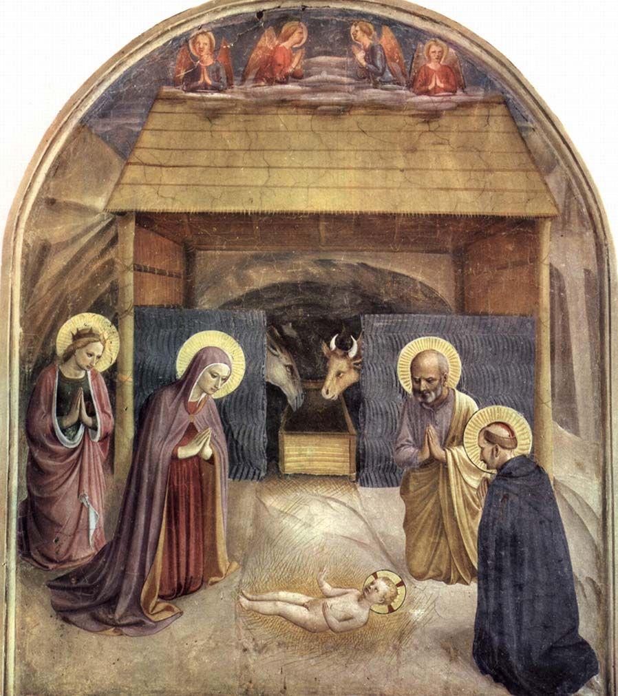 La Natividad» de Fra Angélico | Arte renacentista, Producción artística,  Arte en italia