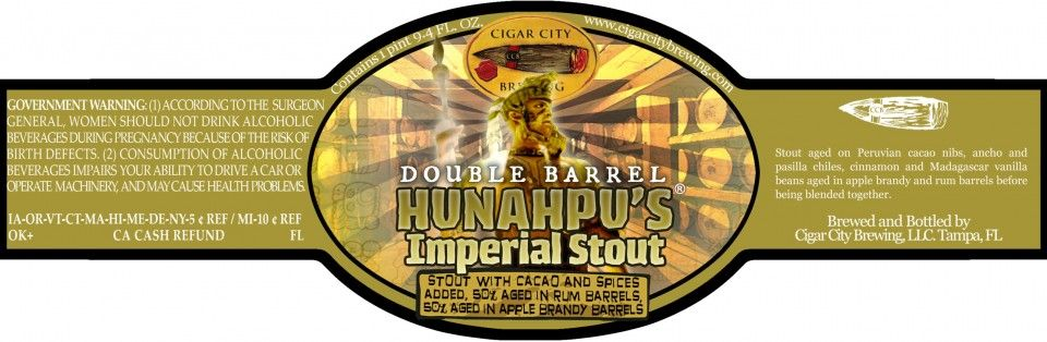 Cigar City Blends Two Barrels Double Barrel Hunahpu Barrel Apple Brandy Double Barrel