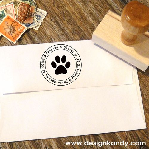 Paw Print Stamp With Images Wedding