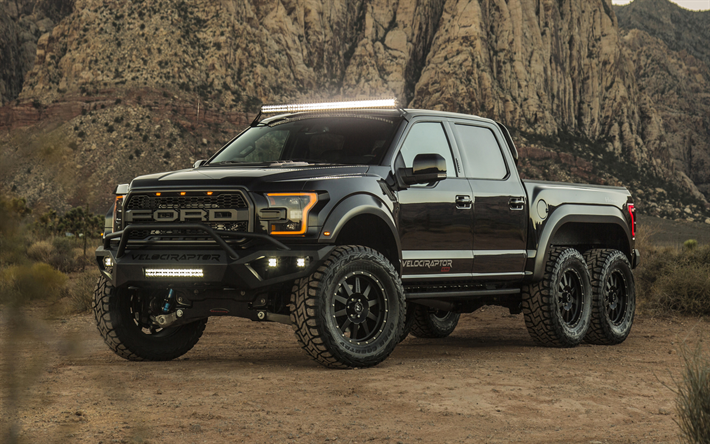 Download Wallpapers Hennessey Velociraptor 6x6 2018 Cars Tuning