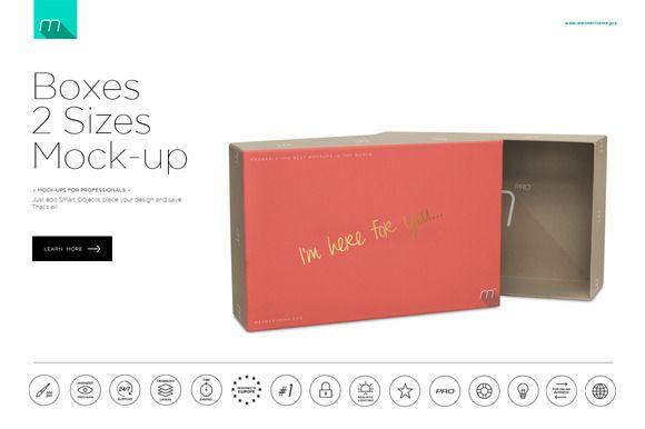 Boxes 2 Sizes Mock-up by mesmeriseme.pro on Creative Market
