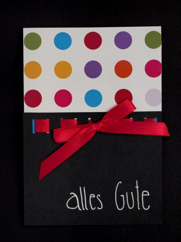Dots, Polka Dots, alles Gute, Happy Birthday, Gratulationskarte