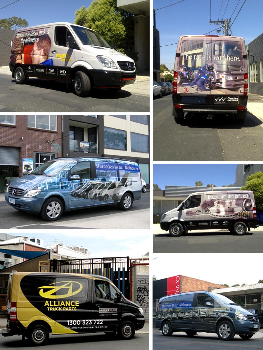 Van graphics for mercedes benz melbourne over the past for Mercedes benz of melbourne