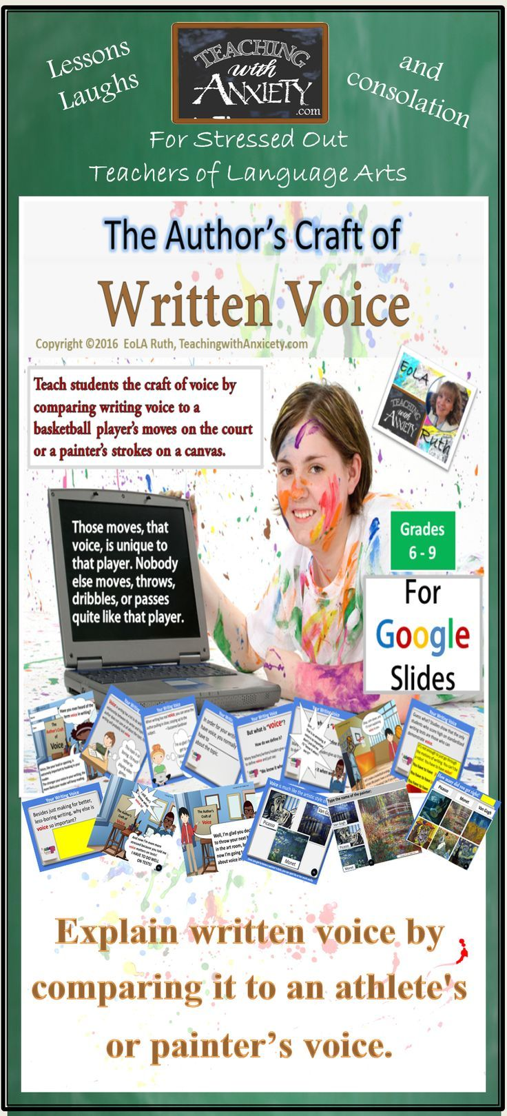 The Author's Craft of Written Voice For Google Slides