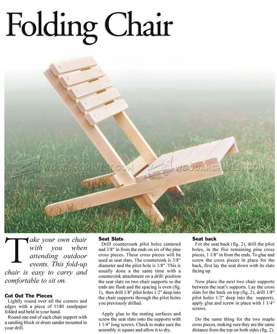 1572 Folding Chair Plans Outdoor Furniture Plans And Projects Folding Chair Chair Outdoor Furniture Plans