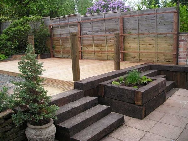 Garden Design Using Sleepers garden design using railway sleepers. garden design railway