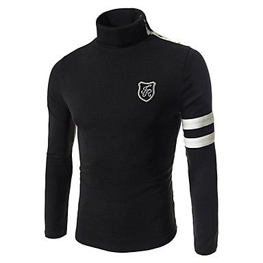 gola alta camisa de manga longa de base bodycon t 3d jogal – BRL R$ 36,72