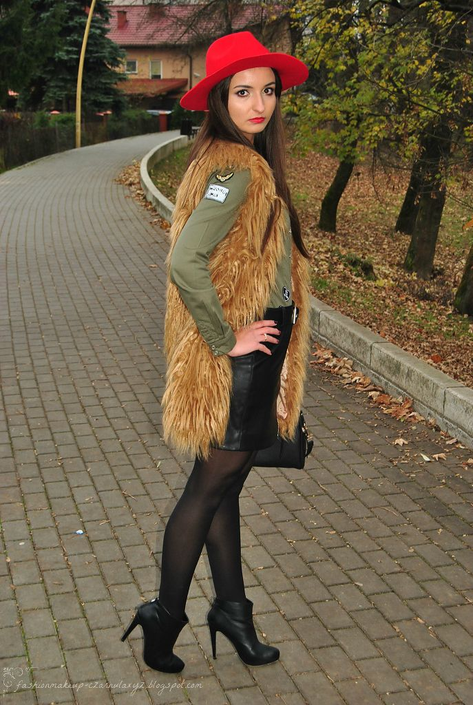www.streetstylecity.blogspot.com Fashion inspired by the people in the street ootd look outfit leather skirt boots