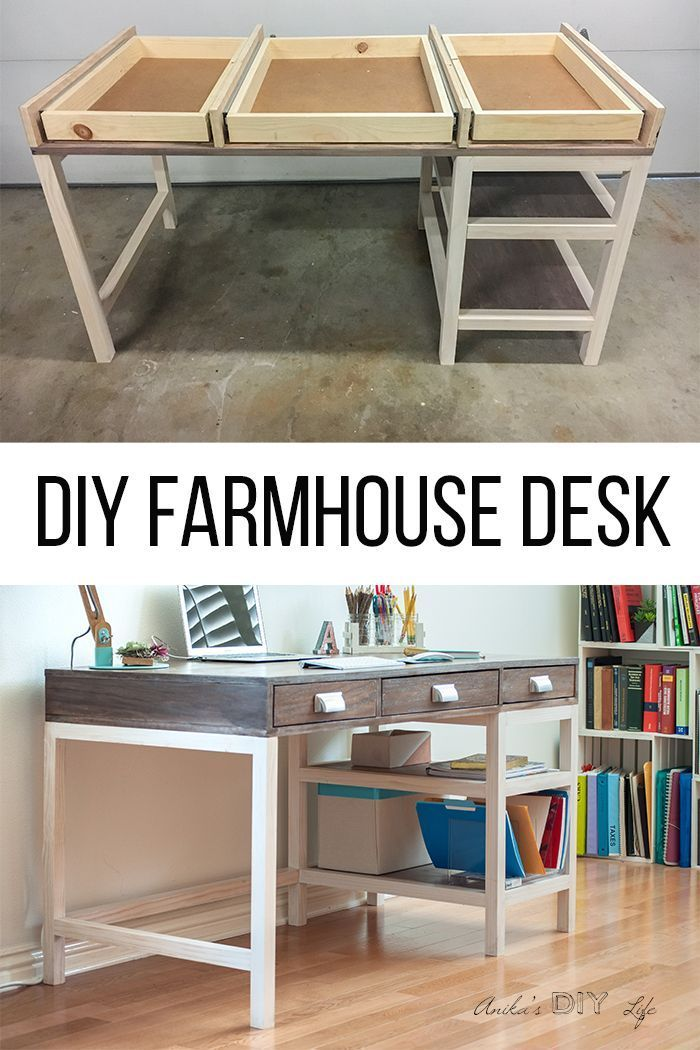 Diy Modern Farmhouse Desk Plans And Video Woodworking