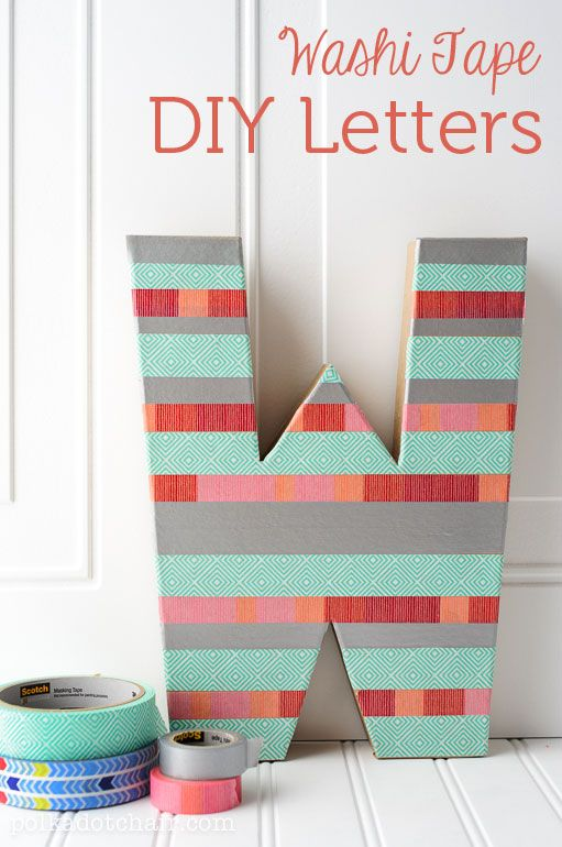 Attractive DIY Washi Tape Letter Craft, Create Sewing Room Decor Part 21