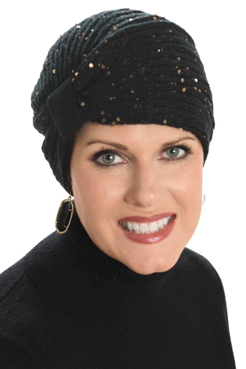 d32ca135ca9b5 Sparkle Turban - Holiday Headwear for Women - Cancer Hats