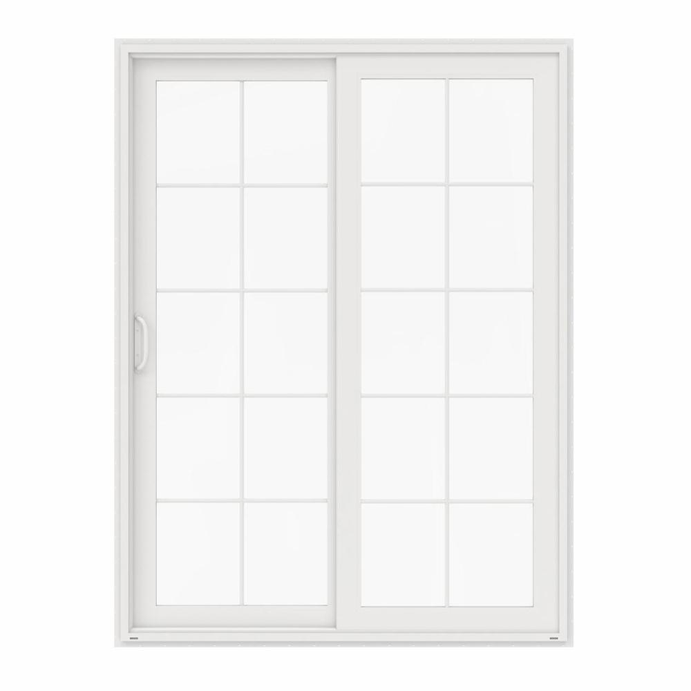 Jeld Wen 72 In X 96 In V 4500 White Vinyl Left Hand 10 Lite Sliding Patio Door Thdjw155900203 The Home Depot Sliding Patio Doors Vinyl Sliding Patio Door Patio Doors