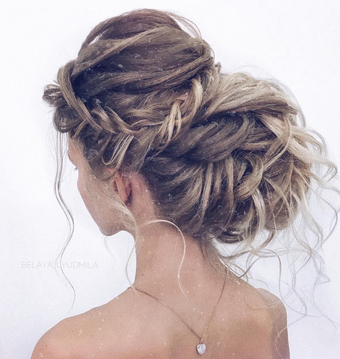 35 gorgeous updo wedding hairstyle inspiration , braids ,braided updo hairstyles ,braided ponytails ,wedding updo, textured braids #hairstyle #hair #braids #updo