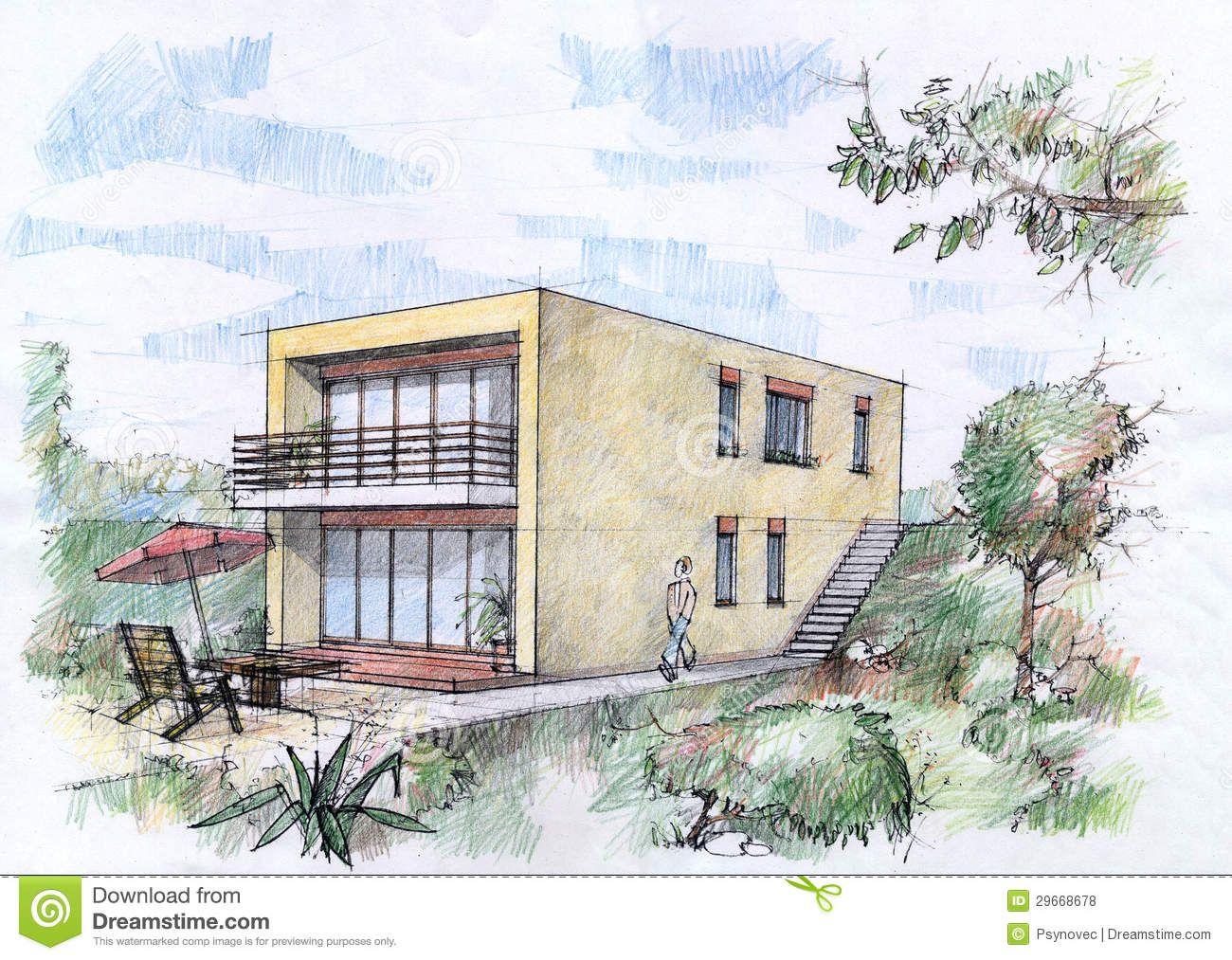 Dibujo color perspectiva buscar con google dibujos interiores perspectiva pinterest - Casas dibujadas a lapiz ...